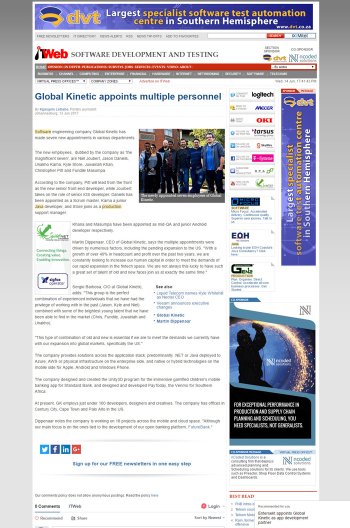 Wired Communications - Global Kinetic